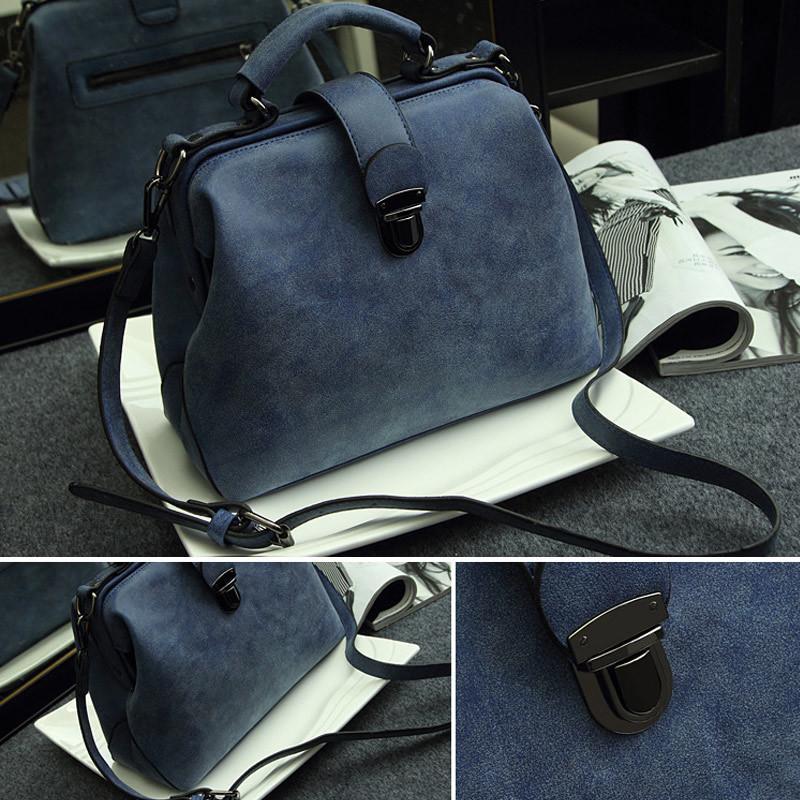 Le donne borse del medico di modo Borse cuoio dell'unità di elaborazione Vintage spalla Crossbody Messenger Bag FC55 CJ191224
