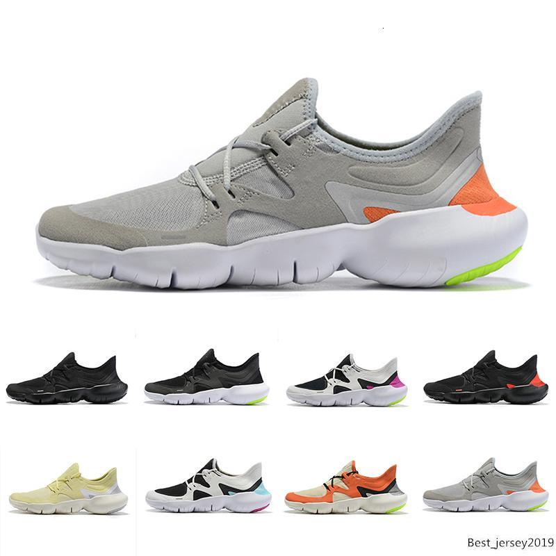 Erkek Tasarımcı Spor Sneakers Yaz Nefes RUN erkekler Kadınlar Hafif Örme Ayakkabı 36-46 Soğuk Ayakkabı Koşu 2019 Yeni Ücretsiz RN 5.0 Mens