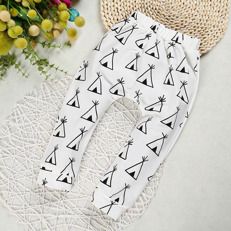 INS Calças Baby animal Verão Imprimir Harem Pants PP desenhos animados Calças Fox Pinguim collants da moda Calças Casual garoto roupa 80-110cm New B3132