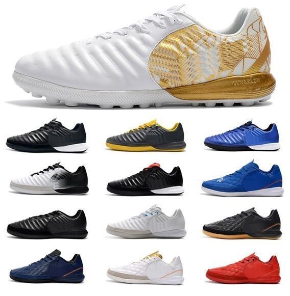 2019 nuevos zapatos para hombre TimpoX Final TF fútbol Soft Ground Ronaldo Neymar Botas de fútbol barato Tiempo Legend VII MD interior Botines de fútbol
