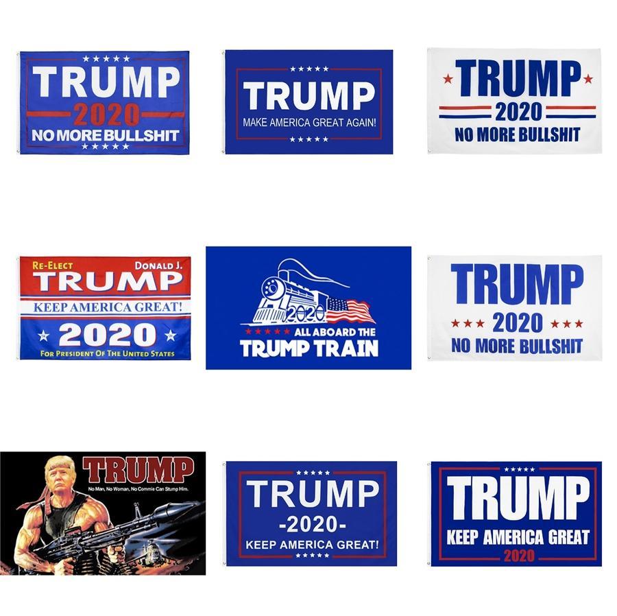 Дональд Трамп 2020 Американские флаги Printed Выборы Баннер Флаги Личность Главная партия Decortive 90 * 150см Xd20565 # 416