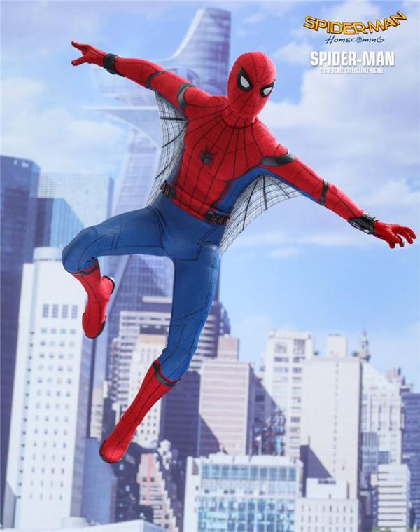 Avenger İttifak Kahraman Dönüş Okul Sezonuna Dön Hc Commoner Örümcek Chivalrous 1/6 Can Eylem Kutulu El Yapabilir SH190908