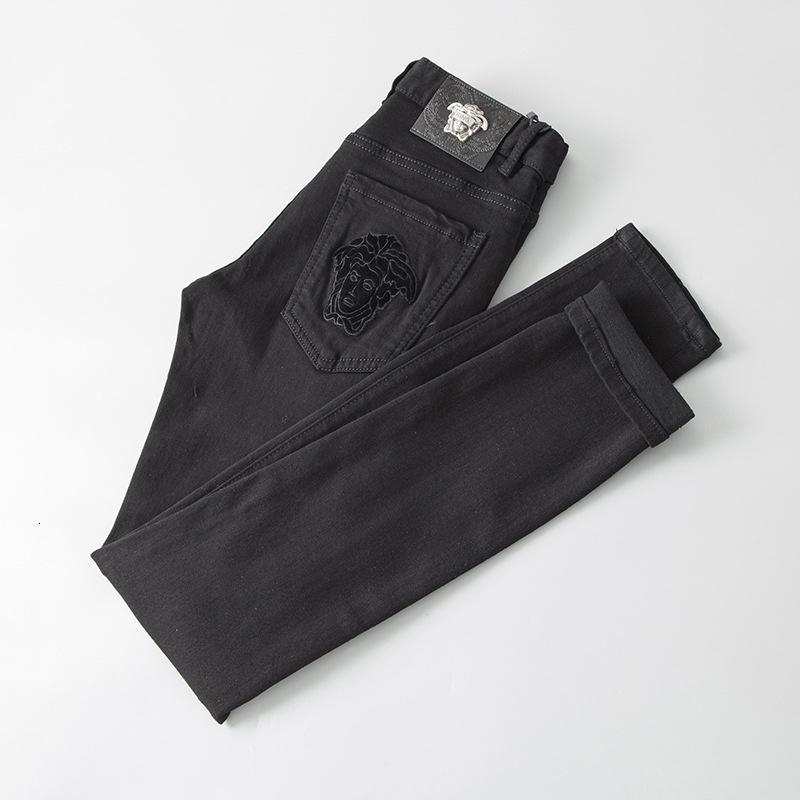 Mais recente Homens de Moda de desgaste original do projeto Jeans qualidade perfeita Calças retas Calças Moda Maré Calças Yu990