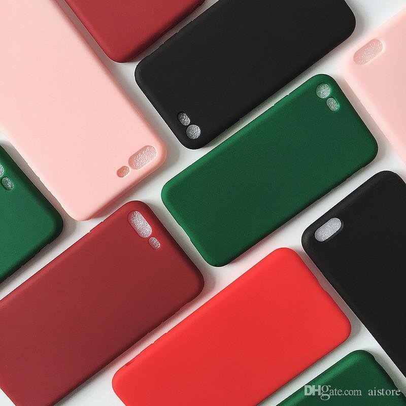 500pcs étui pour téléphone mobile TPU Creative nouveau noir givré pour téléphone mobile bonbons couleur givré tpu coquille pour la pomme