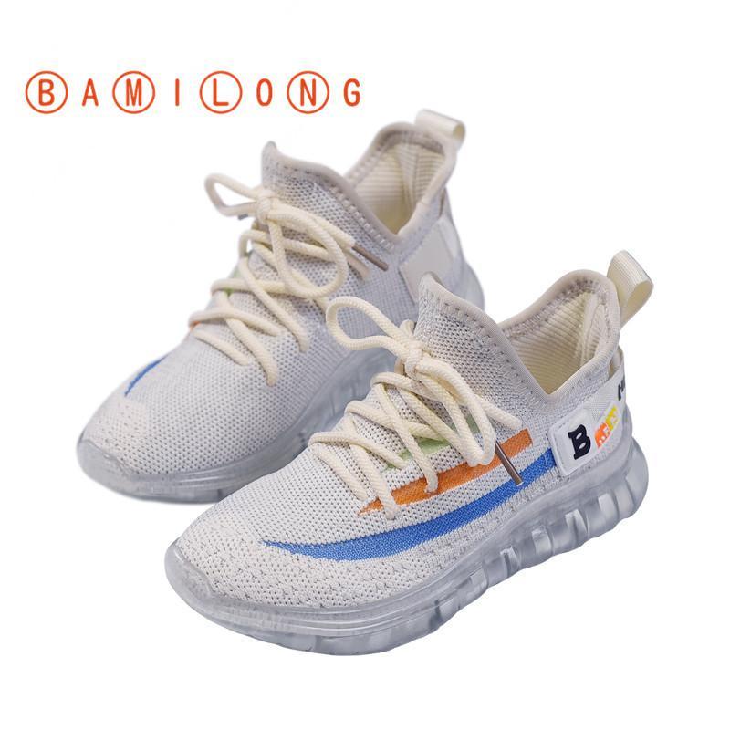 Nouveau mode Chaussures Enfants Pour Garçons Filles Air Mesh respirant Enfants Casual Chaussures bébé Chaussures de sport doux Courir B22 T200507