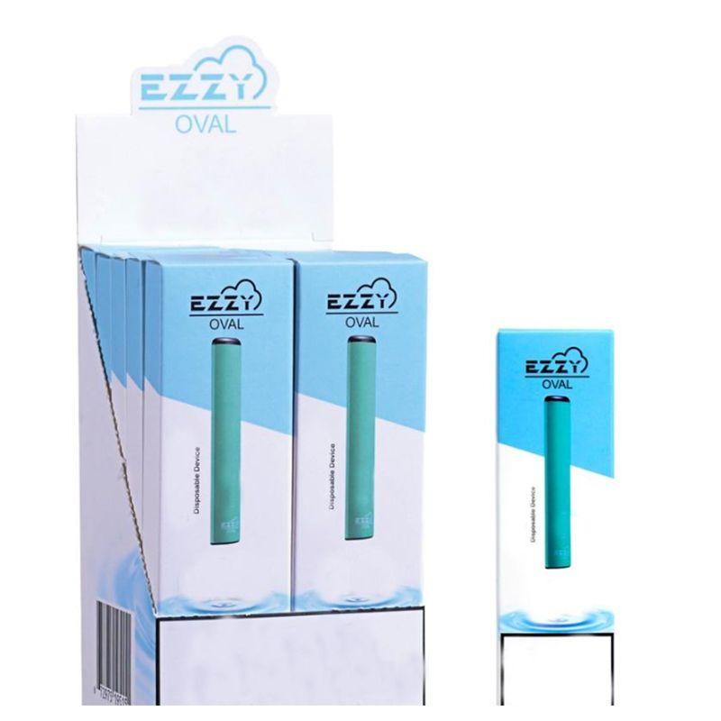 Plus récent EZZY OVALE dispositif à usage unique Vape Pen Starter Kit batterie 280mAh 1,3 ml 300Puffs pods Des cartouches rempli système Vaporizer eCig vapeur