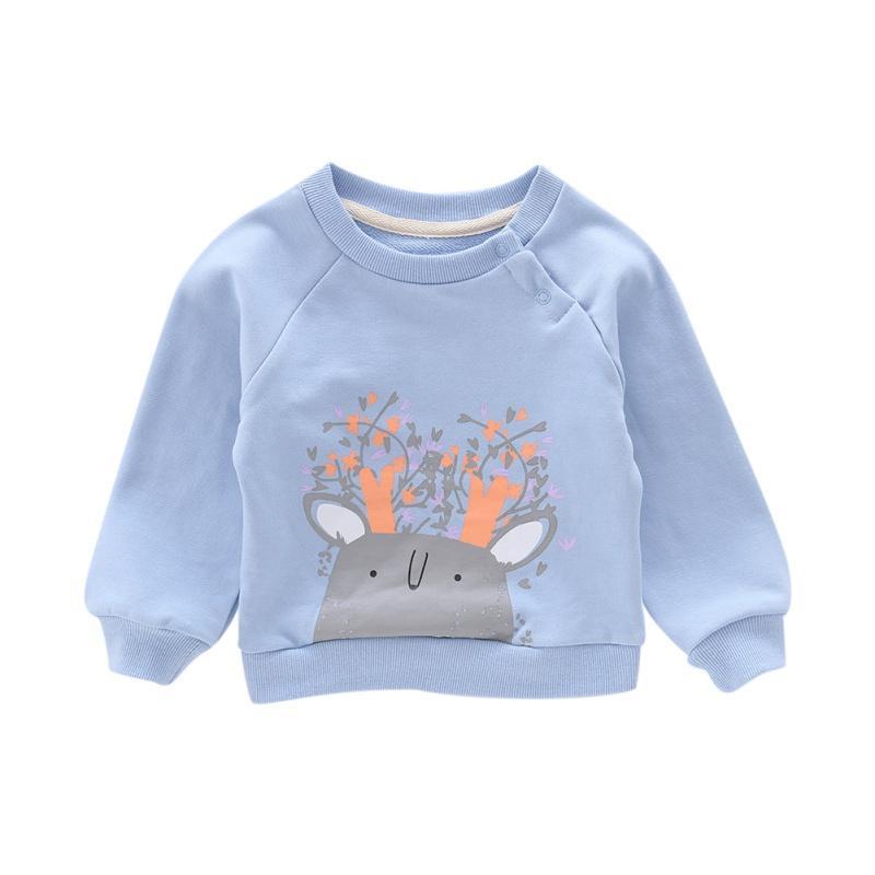 Bebé dos desenhos animados Menino bonito crianças Autumn Imprimir camisolas casual Criança Blusa manga comprida Casacos New Arrival