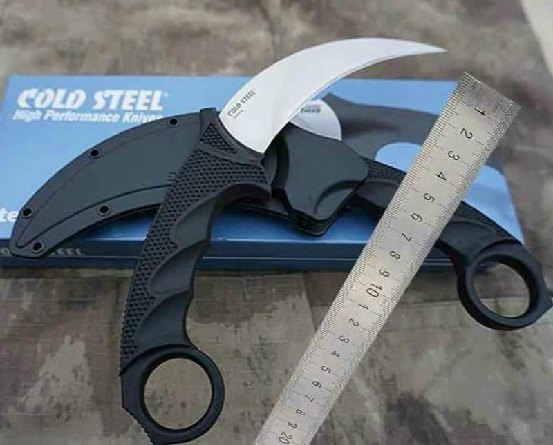 Cold Steel Karambit knife Claw knife AUS-8A 59HRC Mirror Polish blade knife Tactical knives with Secure-Ex sheath
