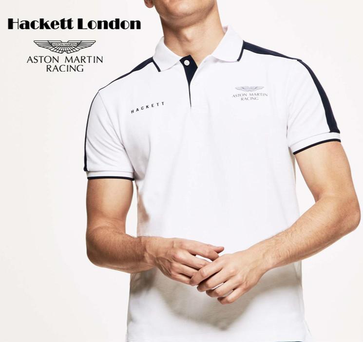 Yeni nokta Hackett dış ticaret markası erkekler renk eşleştirme baskılı pamuklu polo gömlek yaka tişört kısa kollu patlama