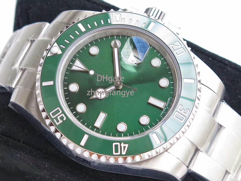 12Mens Watches Luxury watch V8 904L 116610LN ETA 2836 Automatic Mechanical Watch Black Ceramic Frame Luminous Diving Watch DHL Free Shipping