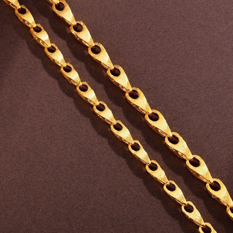 Jóias XP - (60 cm x 8 mm) HOP HIP 24 k Pure cadeia de sementes cor do ouro Melon colares For Men Street Dance Boa Qualidade