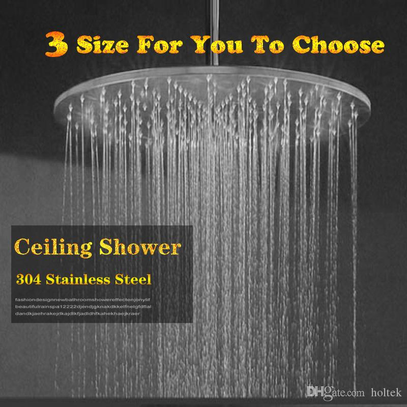 Hot sale bathroom Round Shape Adjustable Big Size 300 400 500 MM Rainfall Shower Head for Bathroom free shipping BV0526