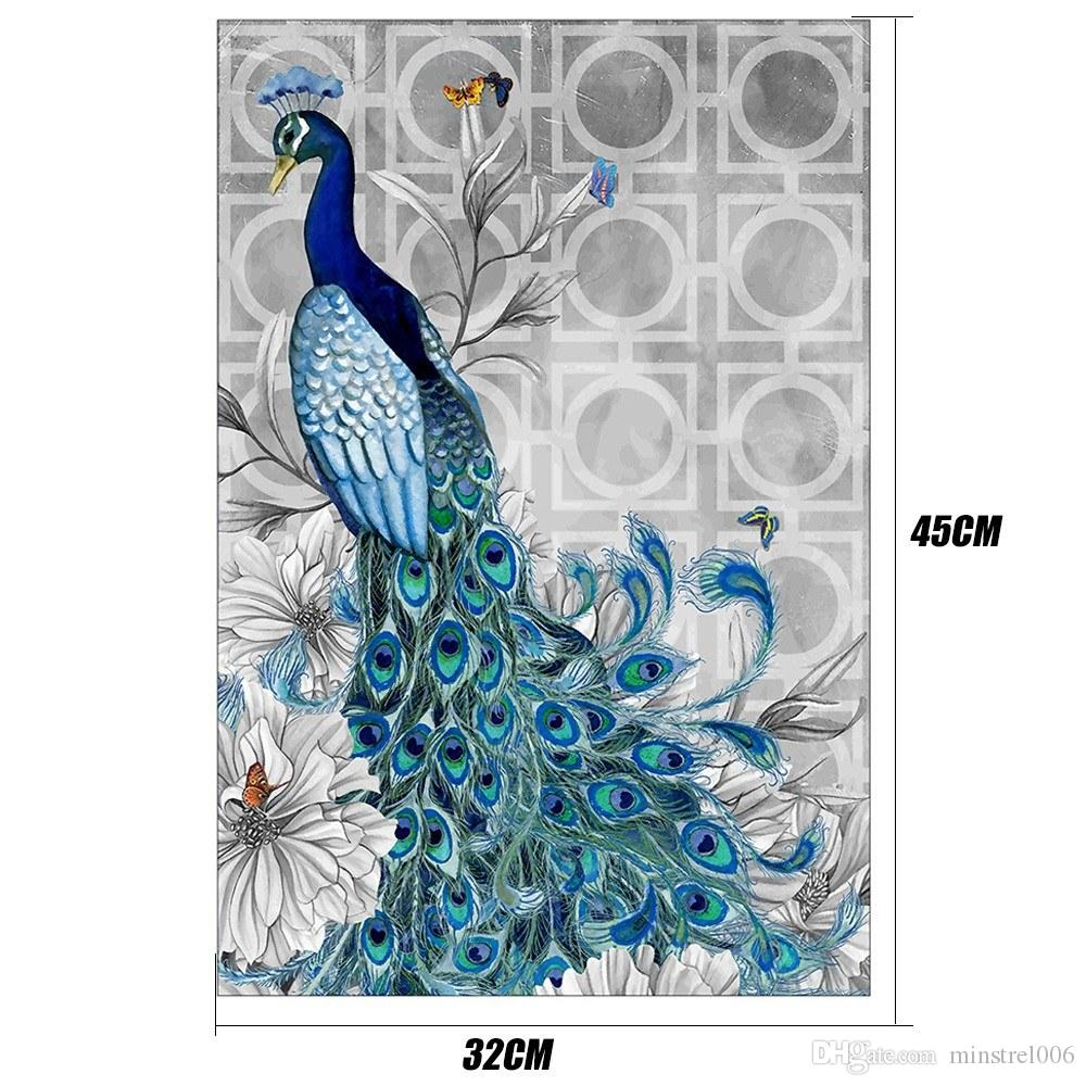 2020 5d Diamond Embroidery Diy Diamond Painting Peacock Picture