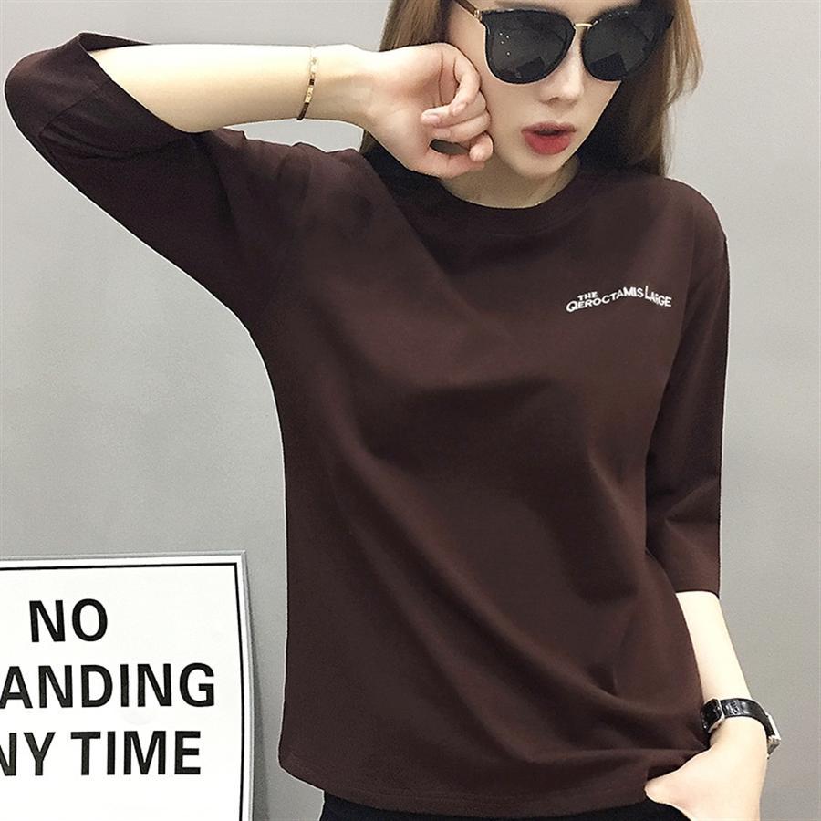 roupas Europeia decoração do corpo de moda 2020 da mulher manga comprida T-shirt T-shirt preto da camisa de base das mulheres