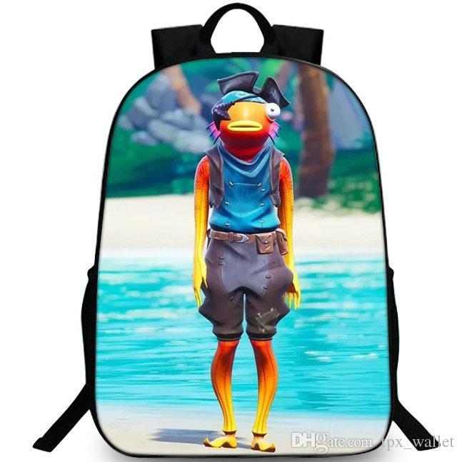 Fishstick рюкзак рюкзак ранец школьный морской рыбы придерживаться популярной игры рюкзак спортивная школа сумка открытый рюкзак
