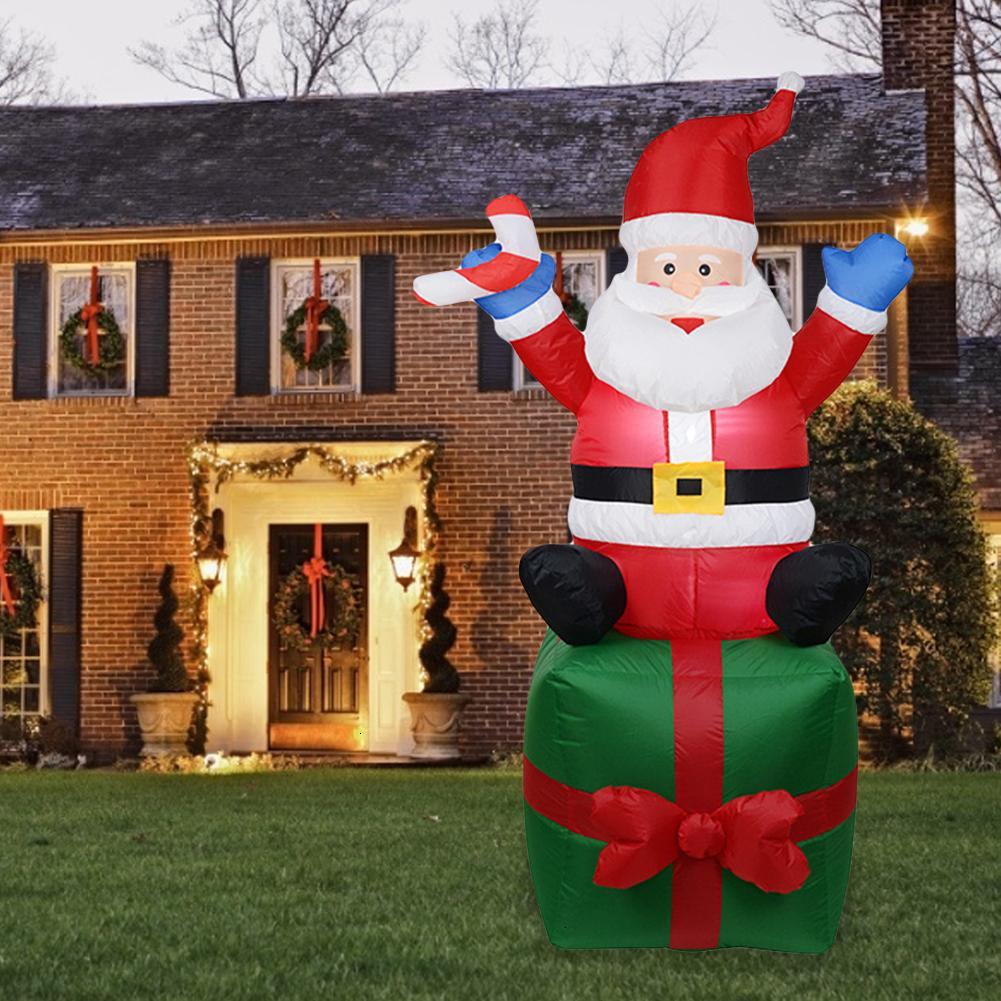 Luce gonfiabile Babbo Natale di notte figura esterna del giardino gioca il partito di Natale decorazioni di Capodanno Buon Natale Y191104