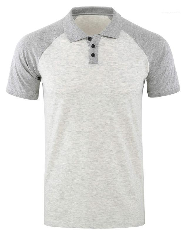 Tees Lässige Designer Revers Herren Polos Short Sleeve Regular Kontrast-Farben-Patchwork-Männer Tops Männlich Mode