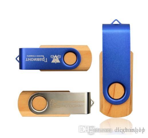 MapleMetal Memory Stick Pendrive 64GB 8GB USB 2.0 LOGO flash Fotografia Pen Drive personalizado (mais de 30pcs Logo Free)