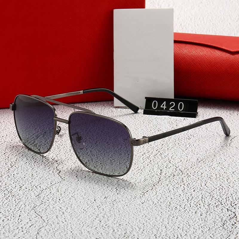 0420 nouvelles lunettes de soleil hommes Medusa femmes lentille de revêtement concepteur de marque de style style été steampunk AVEC BOX CASE