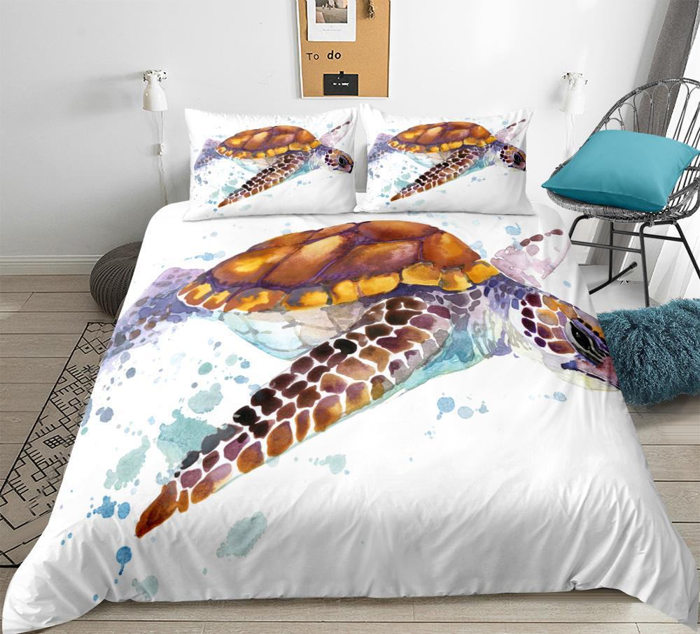 Sea Life Quilt Cover Set Queen