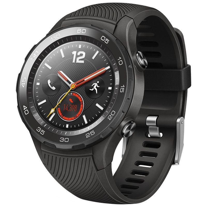 Originale montre Huawei 2 Smart 4G LTE Montre soutien Phone Call GPS NFC Moniteur de fréquence cardiaque eSIM pour iPhone Android Wristwatch iOS étanche