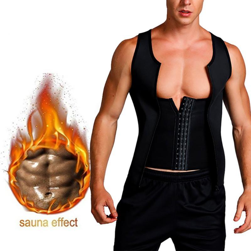 CYSINCOS 2020 New Men's Vest Breasted Body Shaping Waistcoat Corset Male Fashion U-neck Close Fitting Waistband Underwear