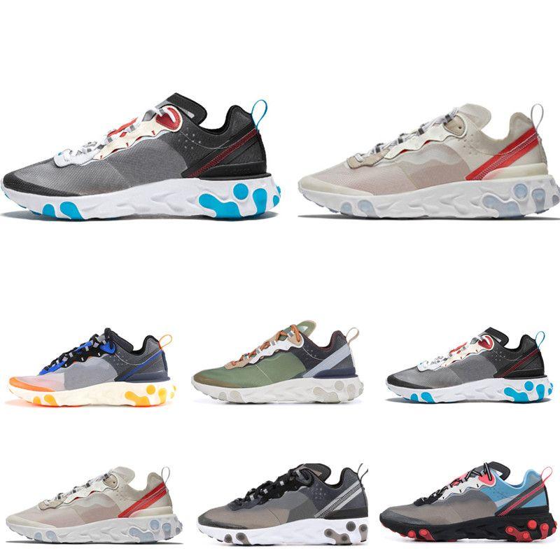 Nike air max 55 87 off white  jordan basketball slipper vepormax designer men shoes Chaussures Nouveau Hommes Femmes Blanc Noir NEPTUNE Bleu Hommes Formateur Conception Respirant