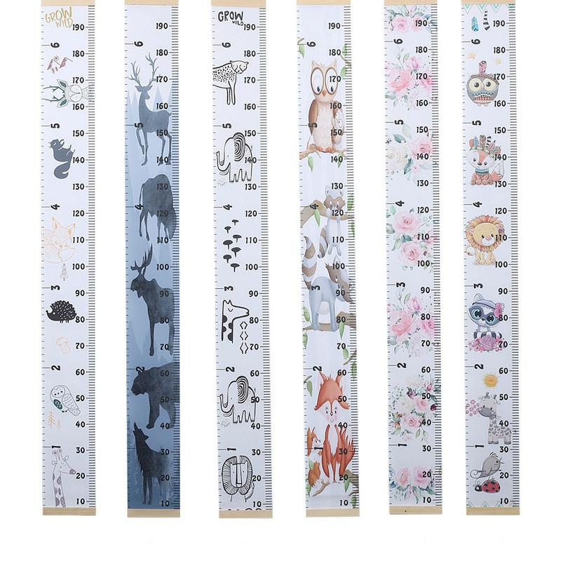 Kids Growth Chart Wooden Children Room Decor Wall Hanging Height Measure Ruler