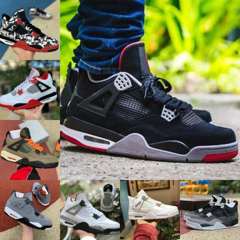 Acheter Pas Cher 2020 Nike Air Jordan 4 Retro Jordans Chaussures ...