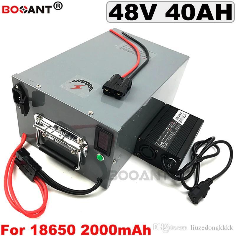 48V E-bike Lithium bateria de 48V 40AH bicicleta elétrica 48V bateria para Bafang 2000W 2500W Motor + 5A Carregador frete grátis