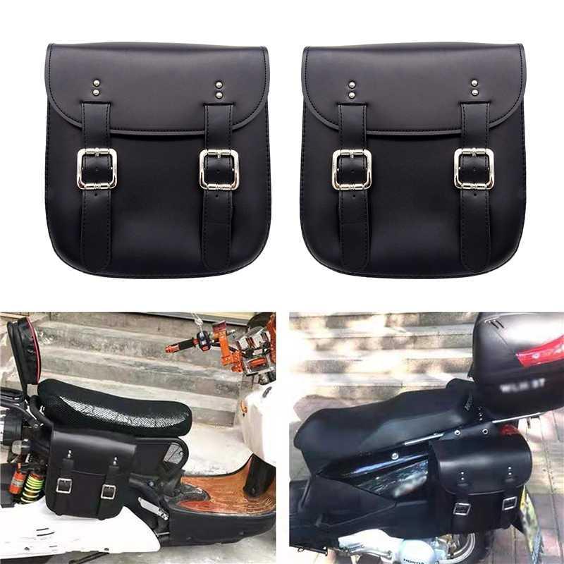1 개 쌍의 유니버설 오토바이 테일 사이드 가방 보관 도구 왼쪽 오른쪽 오토바이 안장 가방 대용량