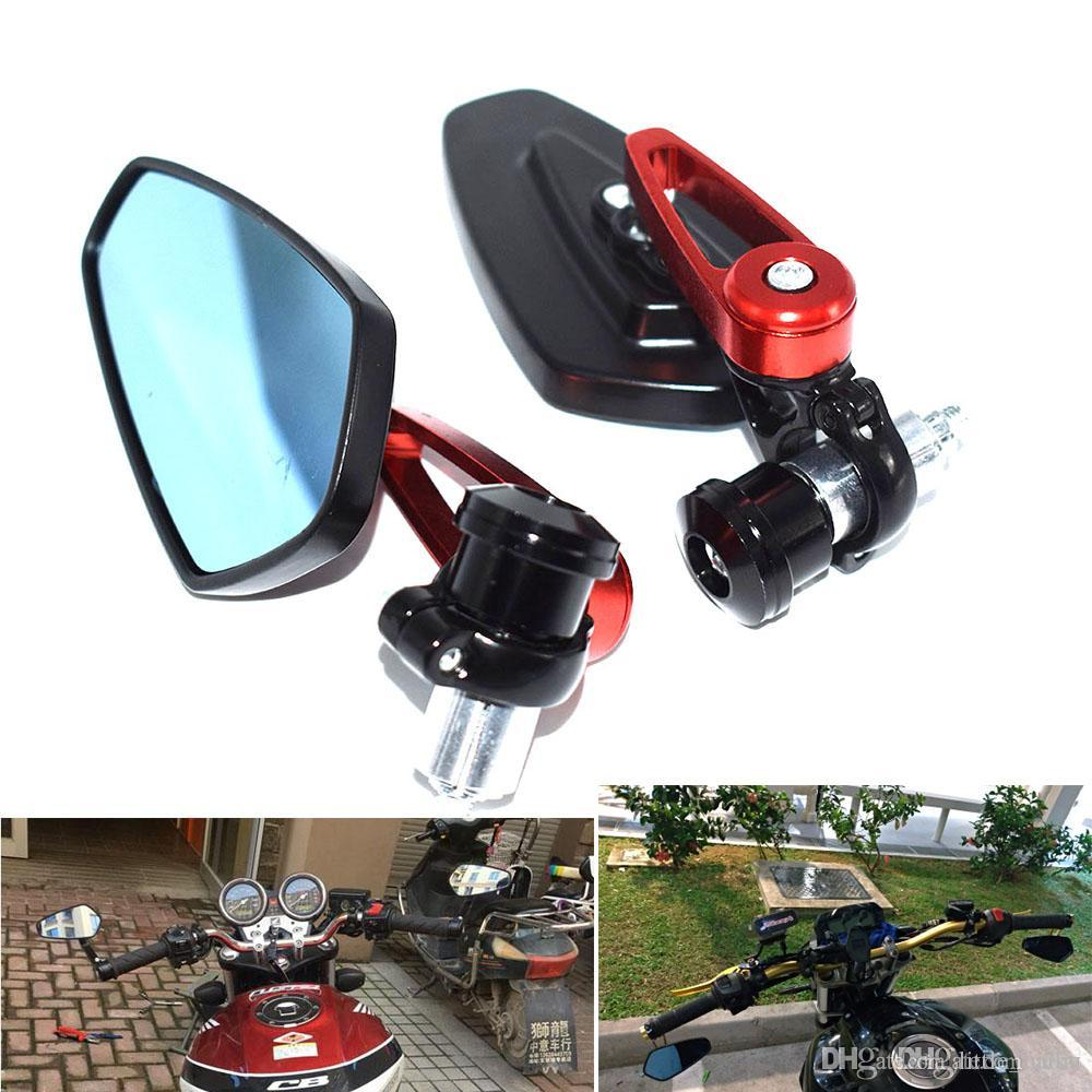 "Rearview Glass Side Mount Mirrors For Kawasaki Suzuki Honda Yamaha ATV 7//8/"" 22mm"