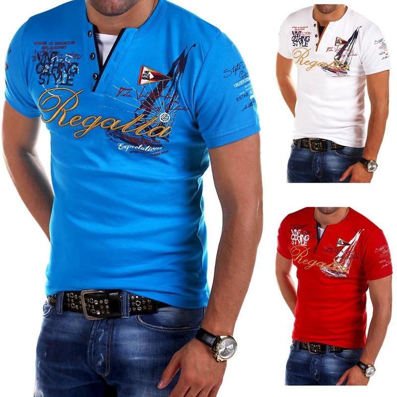Camisa Zogaa verano de los hombres Casual Male Camisetas de manga corta impresa letra Slim Fit Undershirt masculino del O Cuello Pará
