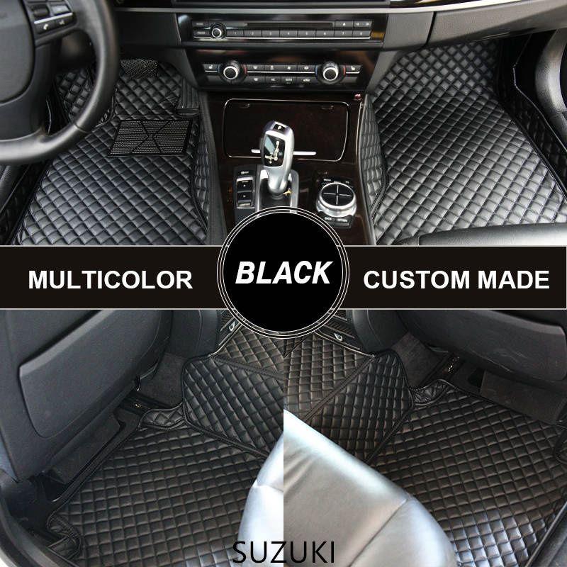 Car personalizzati Tappetini per Suzuki Swift Accessori 2005 2007 2009 Vitara Carpet Scross Liana jb23 Alto 2014 Ignis 2003