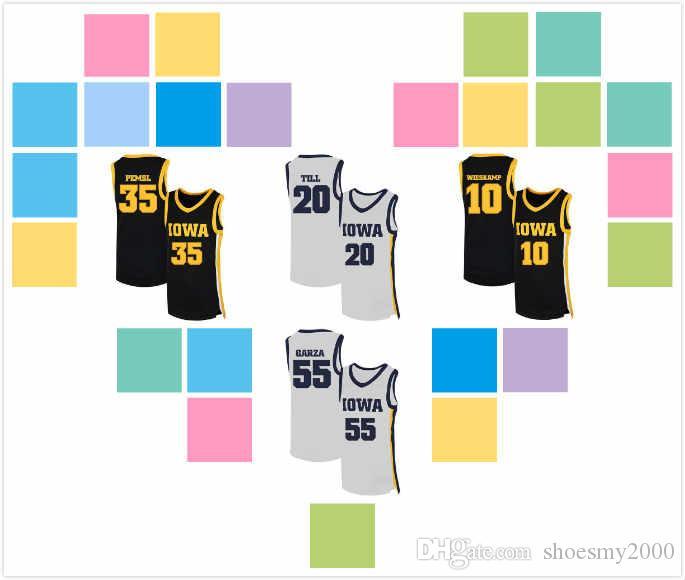 Özel Iowa Indians Luka Garza Jersey 55 Joe Wieskamp 10 Cordell Pemsl 35 Riley Till 20 Patrick McCaffery 22 Austin Kül 13 Basketbol S-3XL