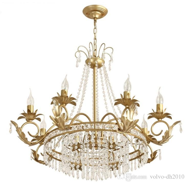American crystal chandeliers living room restaurant luxury lamps LED crystal chandeliers Dia80cm Free shipping LLFA