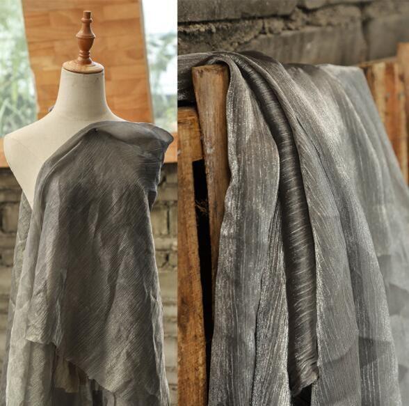 Two style Organ yarn chiffon yarn light mesh silk scarf textiles fabric dresses diy laser wedding gauze party tweed mannequin fabric A427