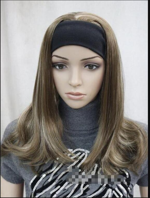 Perruque moitié clair avec perruque E-TLG04