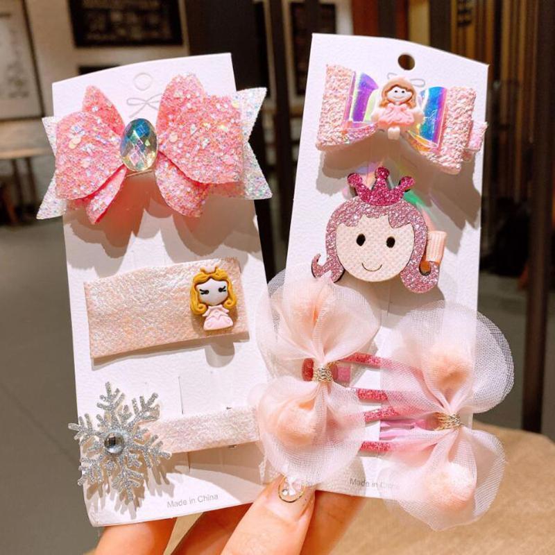 3pcs / set neue Art und Weise Mädchen-Kind-Hairpin-Set Schönes Big Bow Crown Hair Clips Spangen für Kinder, Frühling, Sommer Kopfbedeckung