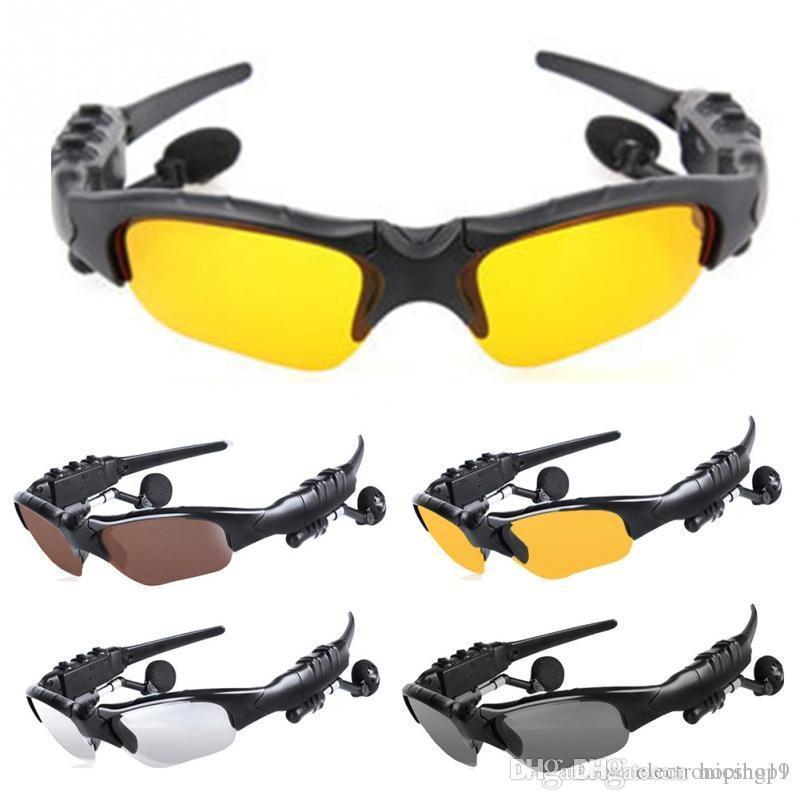 1 * جديد موضة سماعات لاسلكية بلوتوث 4.1 ستيريو النظارات الرياضية الموسيقى القيادة نظارات الشمس ركوب الخيل سماعة سماعة e138