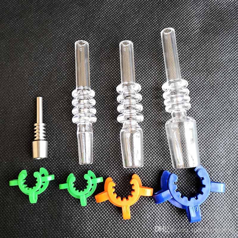 Dica de quartzo com clipes de keck de plástico Acessórios para fumar para 10mm 14mm 18mm Titanium unha de titânio água de vidro Bongs tubulações petralhadores de petróleo