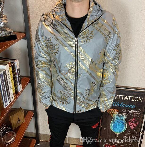 erkek giyim parti için sonbahar ve kış, lüks moda hattı için yeni yüksek kaliteli Avrupa ceket, BOYUT M ~ 3XL # 601