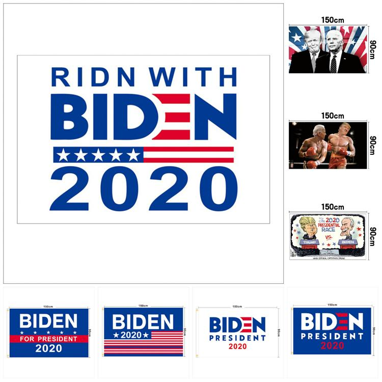 Trump Bayrağı 150 * 90cm ABD Başkanlık Kampanya Banner Seçim Banner Biden Bayrak Cumhurbaşkanlığı Kampanyası Poster T3I5819