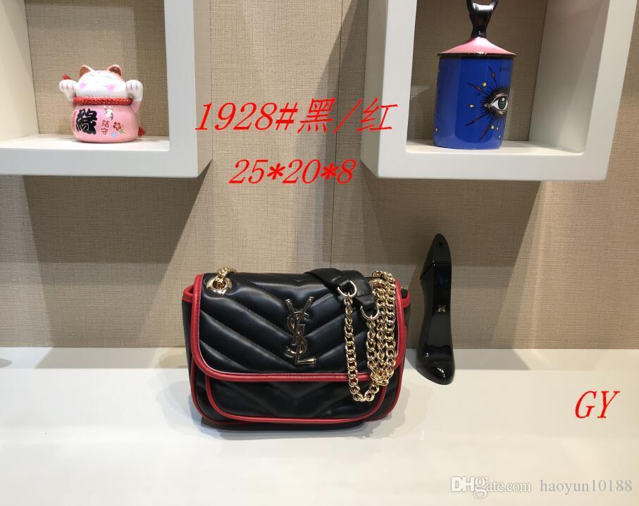 2020 del sacchetto delle donne dei sacchetti di cuoio delle donne modo di alta qualità borsa a tracolla trapuntata doppio borse catena borsa Portafoglio dorp spedizione A92
