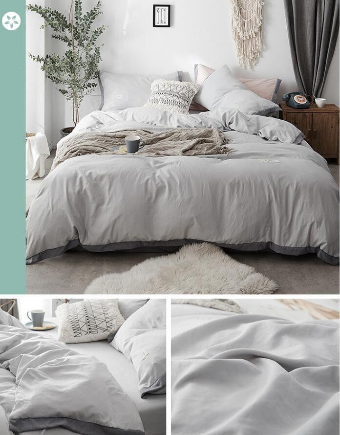 Самый продаваемый стиральный хлопок V Letter Комплект постельных принадлежностей из четырех предметов Голый сон нуждающимся Мягкий и удобный хлопок Дышащий и сухой.