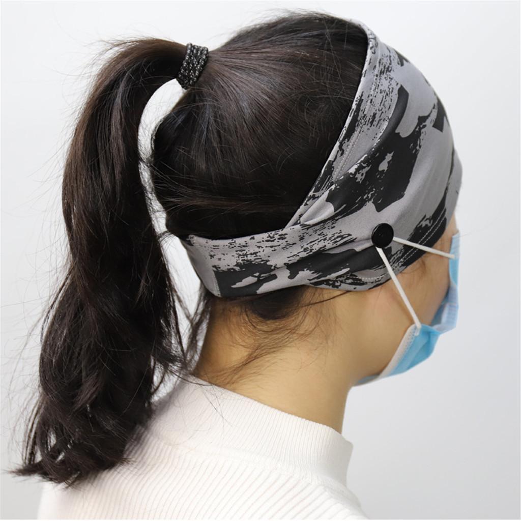 Düğme Spor Spor Saç Bandı Asma Maske ile DHL Kafa Türban Aksesuarları Spor Yoga Fitness Bisiklet Koruyucu Gear Maske