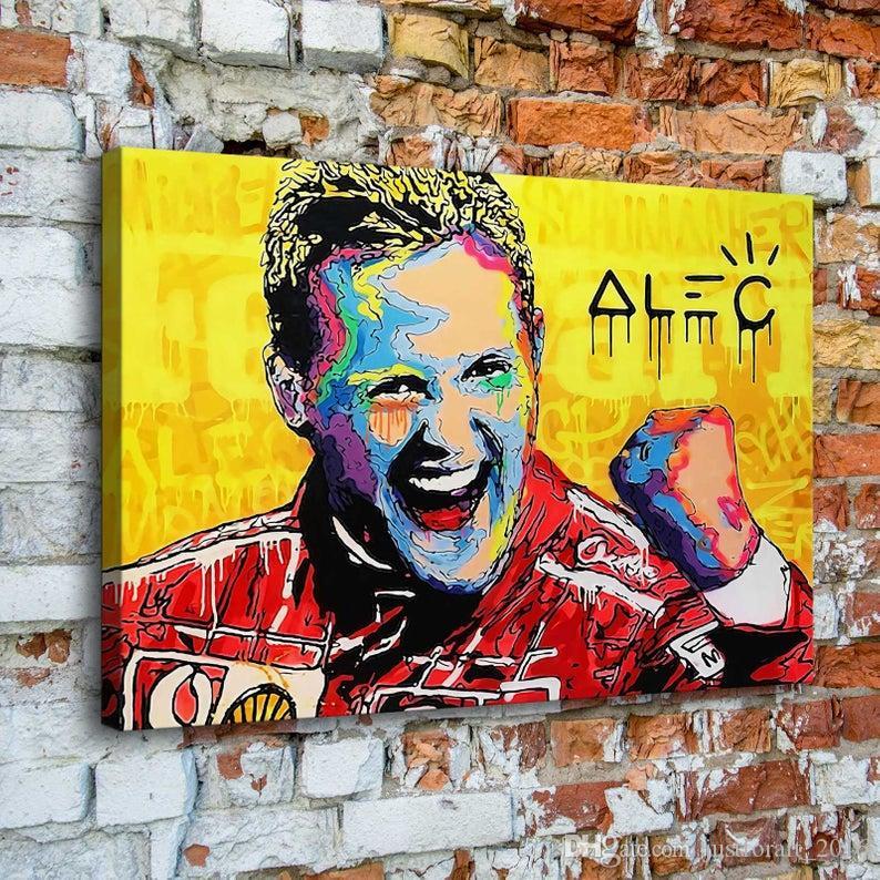 El boyaması Tuval Michael Schumacher'in 24x36inch Çerçevesiz üzerinde Ev Dekorasyonu Duvar Resim Sanatı Alec Tekel Yağı