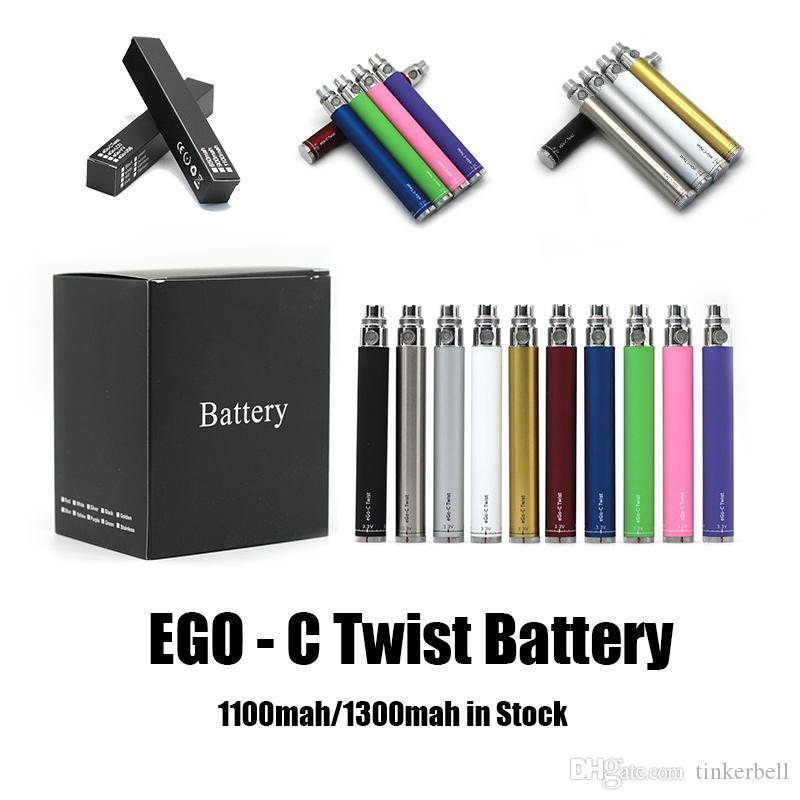 Visão do ego C Torção VPAE VPAE Bateria Variável Tensão 3.3 ~ 4.8V 1100mAh 1300mAh E Cigarro 510 Tópico