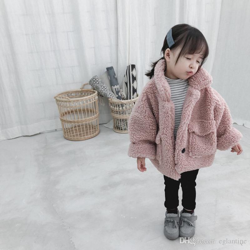 Girl Jacket dicke warme Kinder Herbst Winter Kleidung Kinder Jacke für Baby-Junge Oberbekleidung Mädchen Mantel Kleinkinder 80 ~ 130 Baumwolle