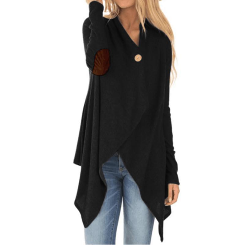 New Style Mode Femmes oversize manches longues pull en tricot Bouton unique Tops en vrac Cardigan Outwear Manteau